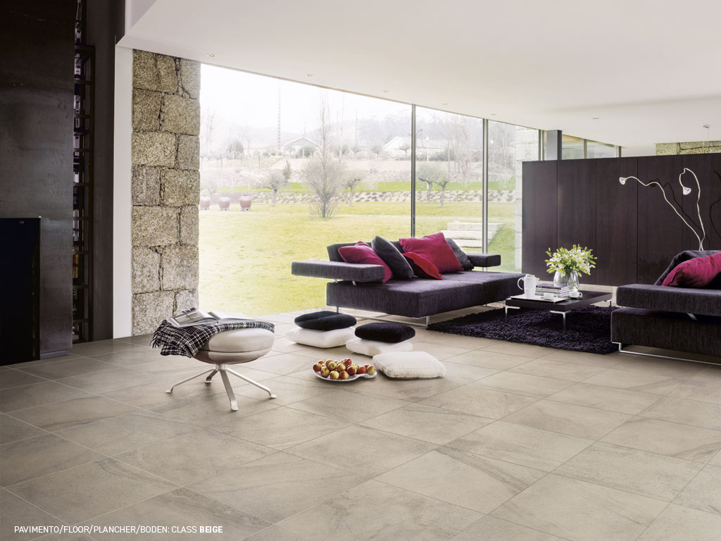 Stone effect floor and walls tiles Class by Ceramica Rondine