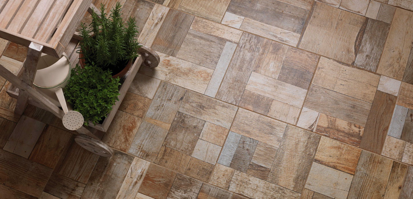 Beige Tiles Cobblewood by Ceramica Rondine