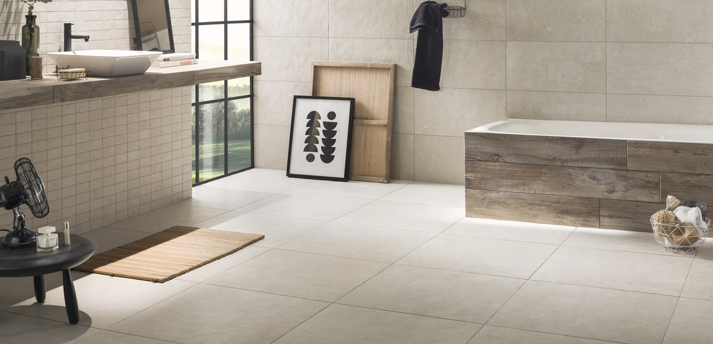 Stone effect floor and walls tiles Galaxy by Ceramica Rondine