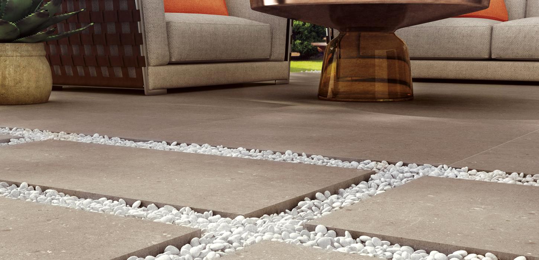 Piastrelle finta pietra in gres per outdoor ceramica rondine