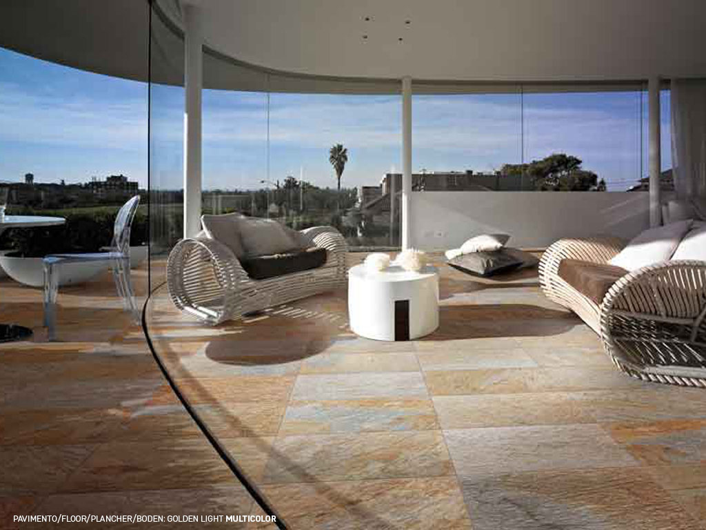 Quartz effect porcelain stoneware floorings and coverings Golden Light