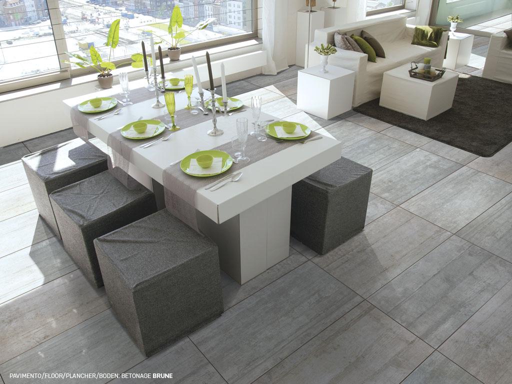 Piastrelle in gres porcellanato effetto cemento Betonage ...