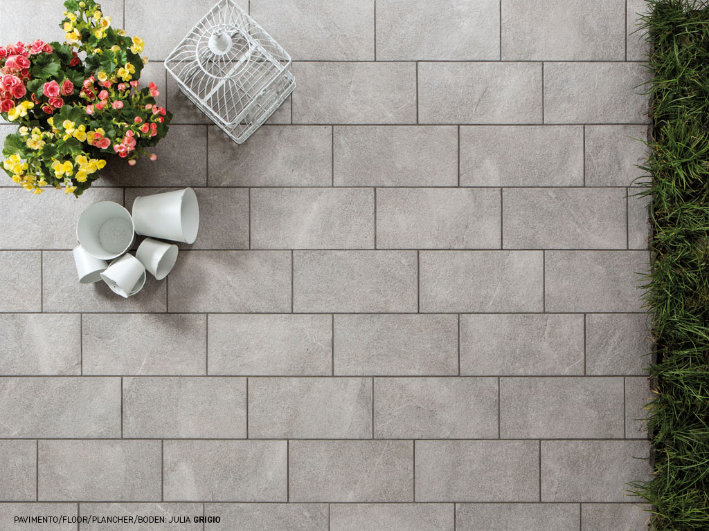 Stone effect porcelain stoneware tiles for outdoors Julia
