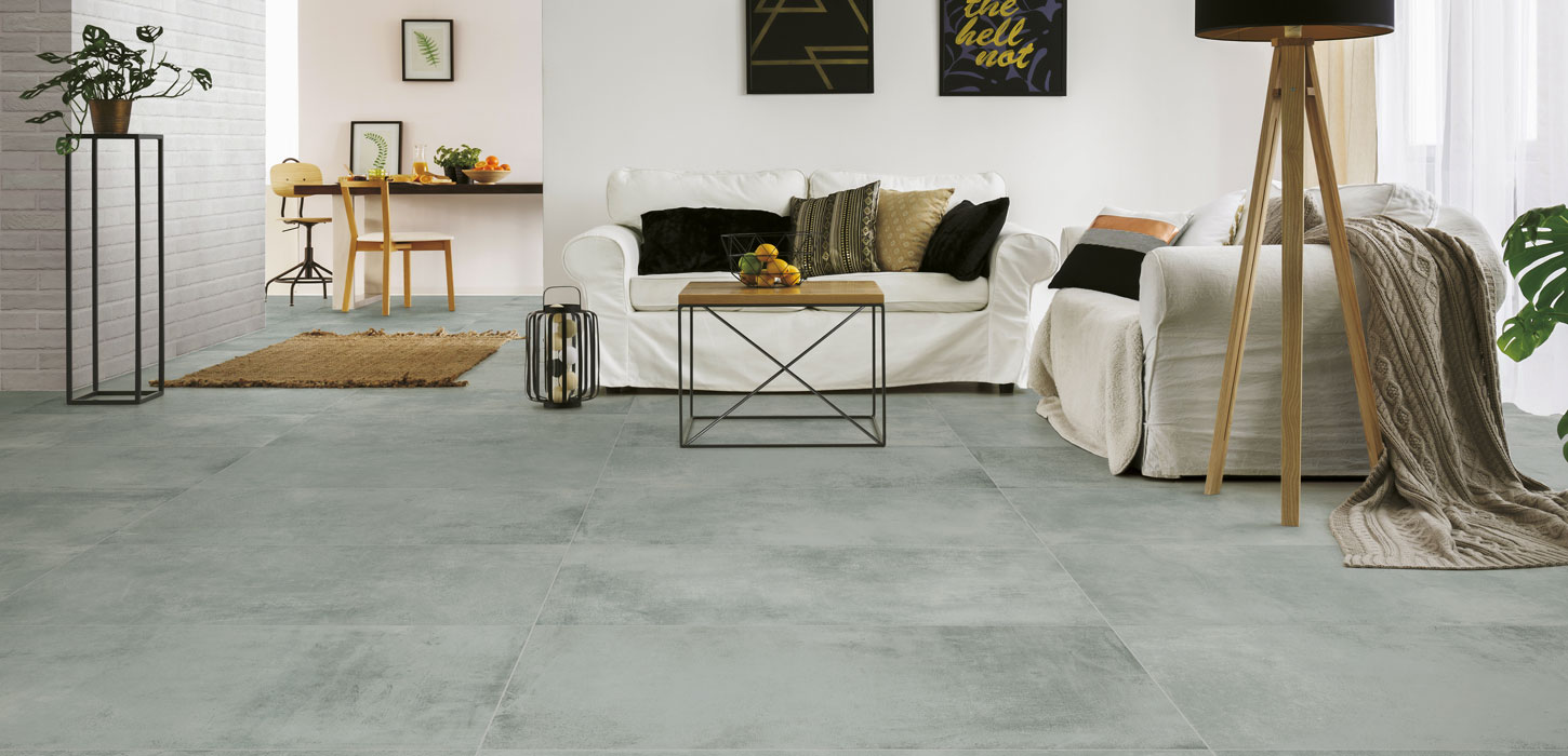 Industrial Color Chic concrete-effect tiles