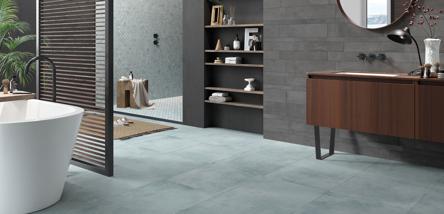 Piastrelle color verde Industrial colorchic by Ceramica Rondine
