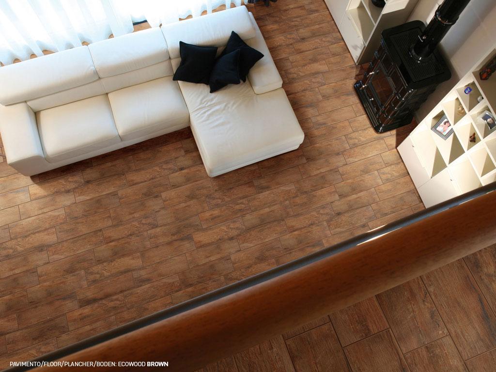 Pavimento effetto legno ecowood: piastrelle gres ceramica rondine