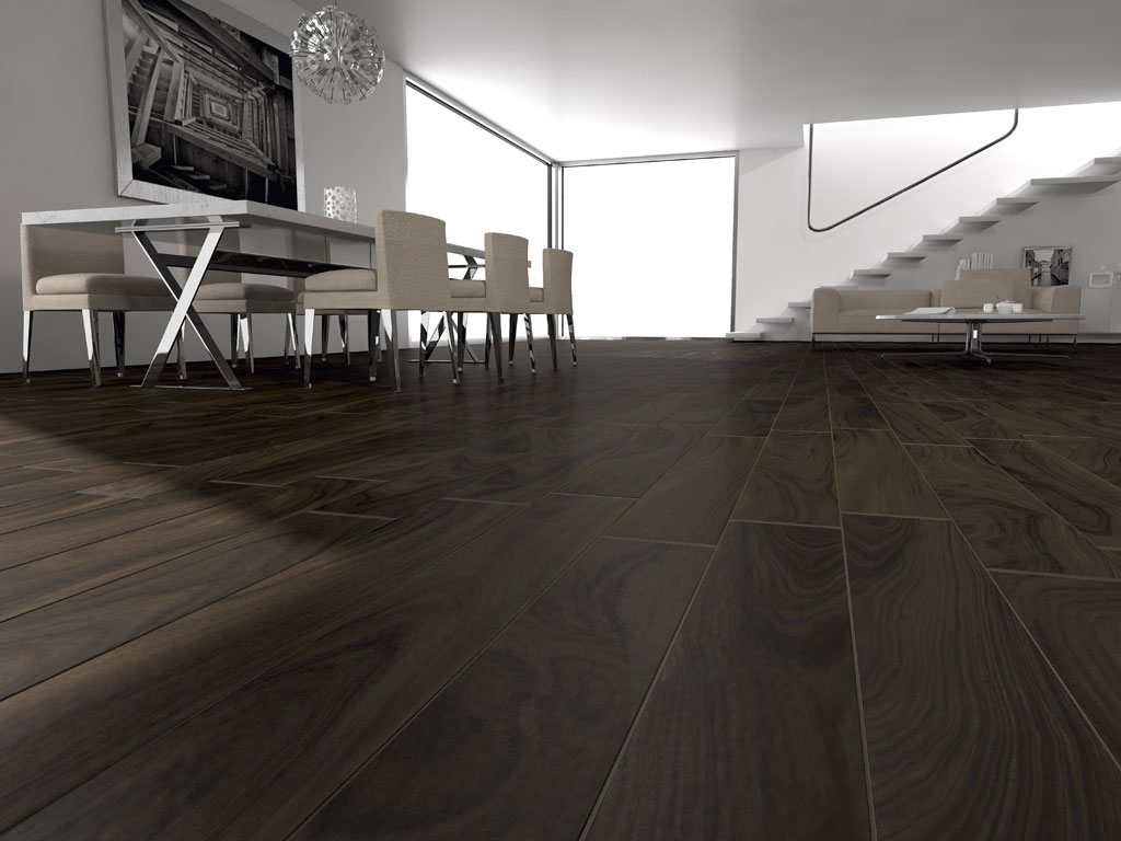 Extrêmement Pavimenti finto parquet gres porcellanato effetto noce Naturalia  SC46