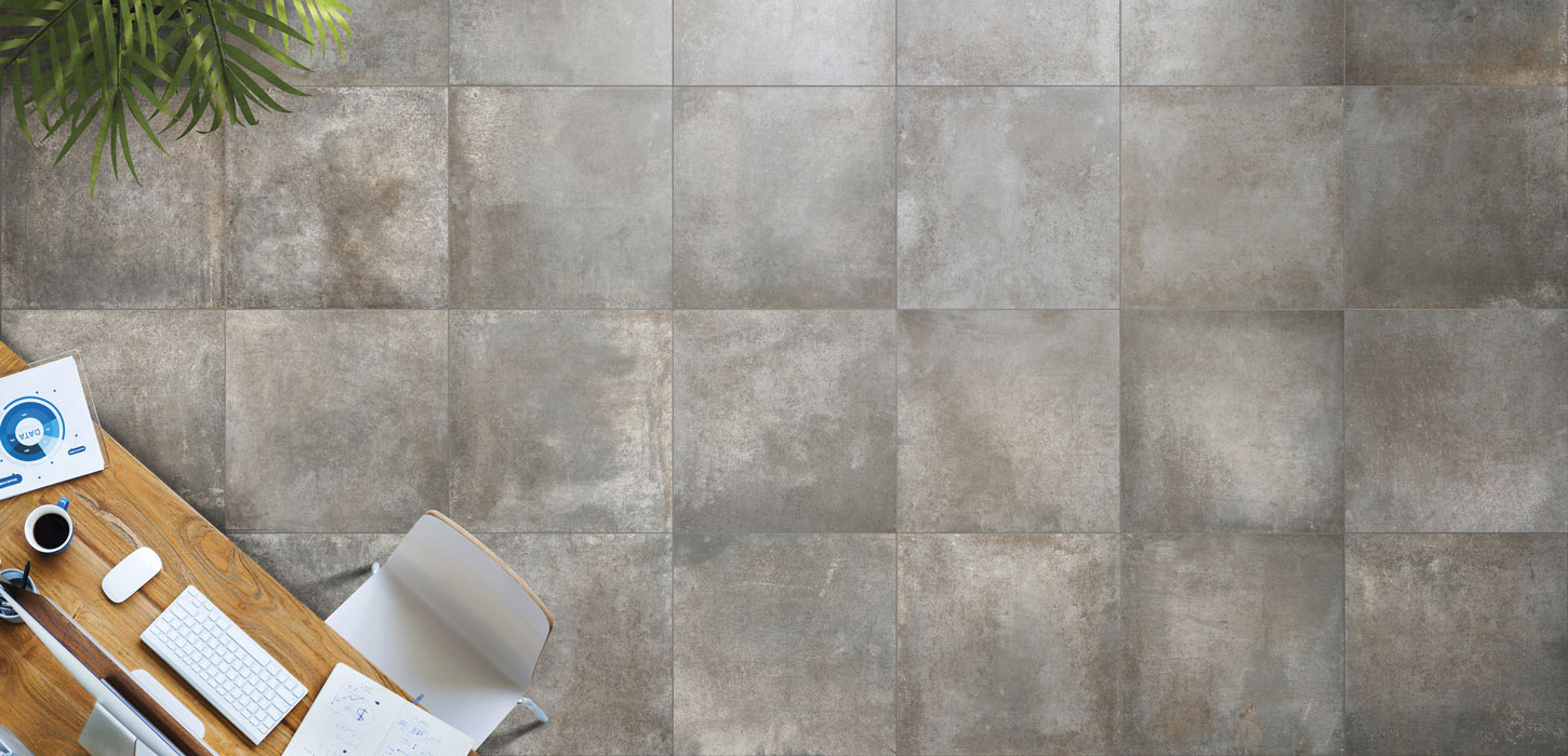 Oxidised sheet effect porcelain stoneware tiles rust for Carrelage ceramique