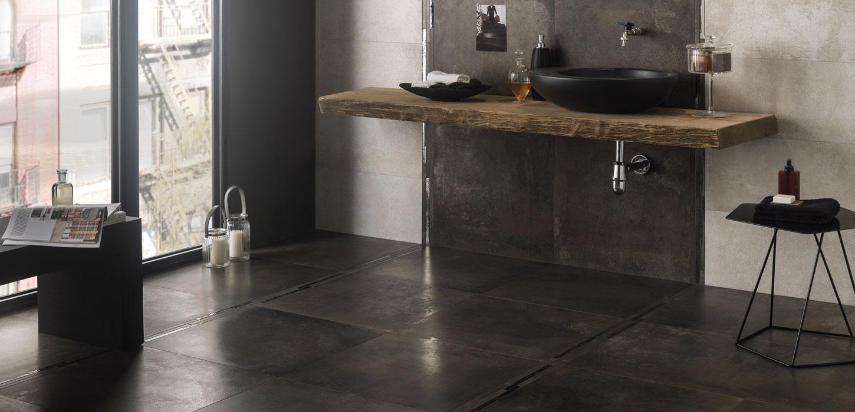 Oxidised sheet effect porcelain stoneware tiles Rust ...