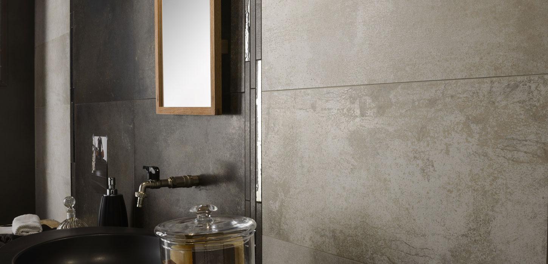 Oxidised Sheet Effect Porcelain Stoneware Tiles Rust