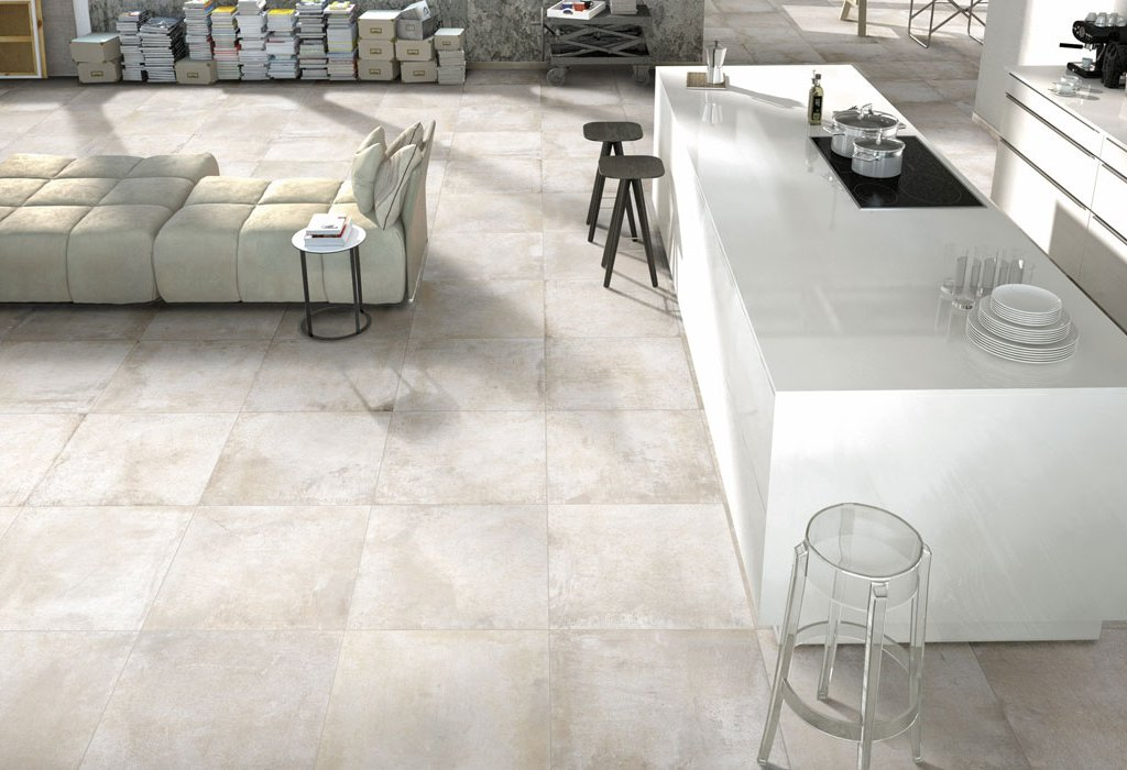 Metal effect floor tiles Rust by Ceramica Rondine