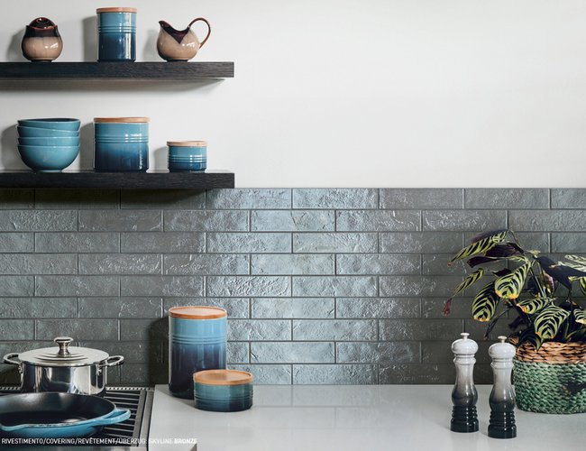 Green Tiles Skyline by Ceramica Rondine