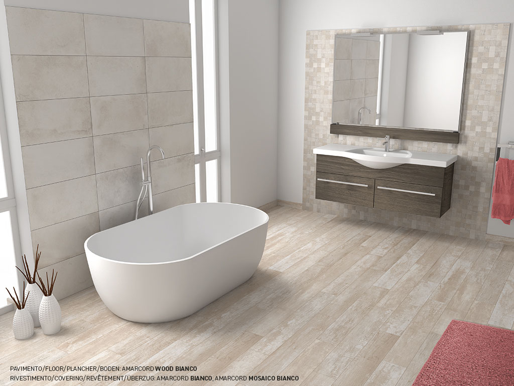 Wood And Terracotta Effect Porcelain Stoneware Tiles