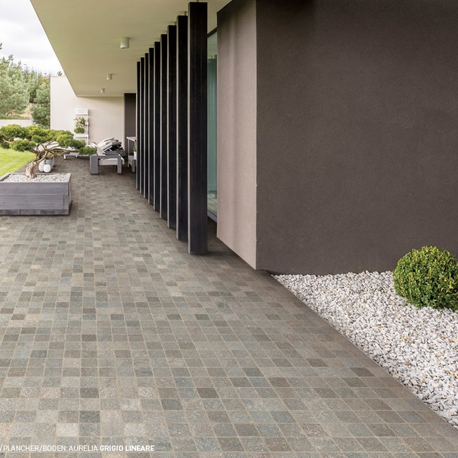 Grey tiles Aurelia by Ceramica Rondine