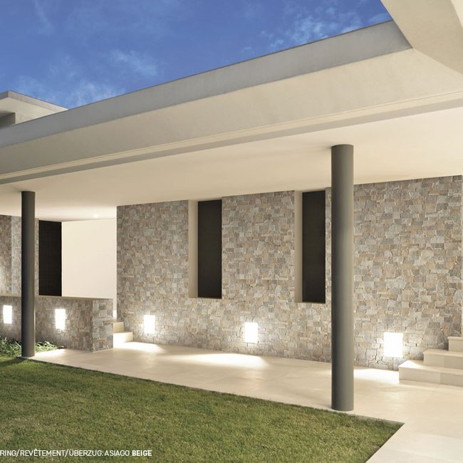 Grey tiles Asiago 3d by Ceramica Rondine