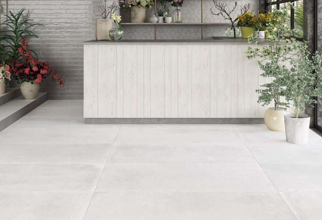 Concrete and resin floor effect Concrete by Ceramica Rondine