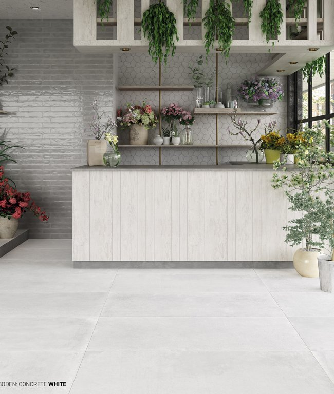 Grey tiles Concrete by Ceramica Rondine