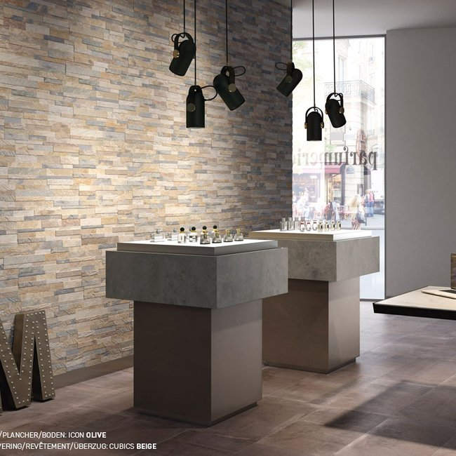 Multicolor tiles Cubics by Ceramica Rondine