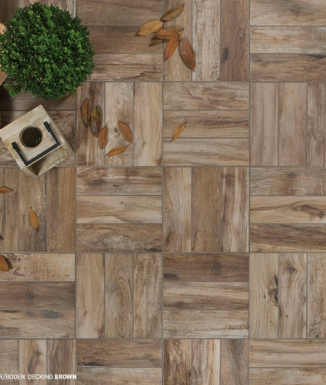 Brown tiles Decking by Ceramica Rondine