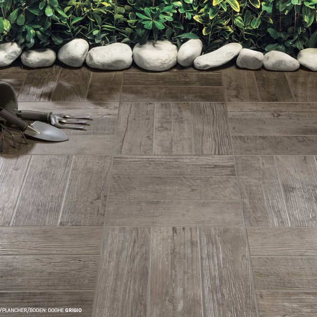 Piastrelle color marrone Doghe by Ceramica Rondine