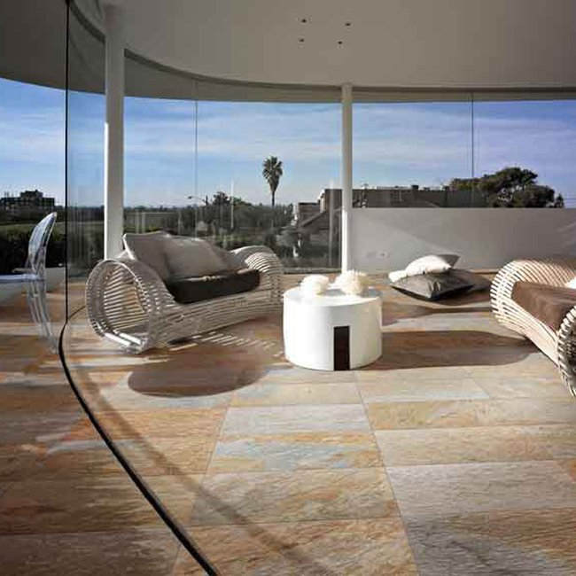 Carrelage multicolore Golden light by Ceramica Rondine