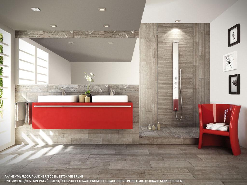 Cement effect porcelain stoneware tiles betonage for Gres porcellanato carrelage