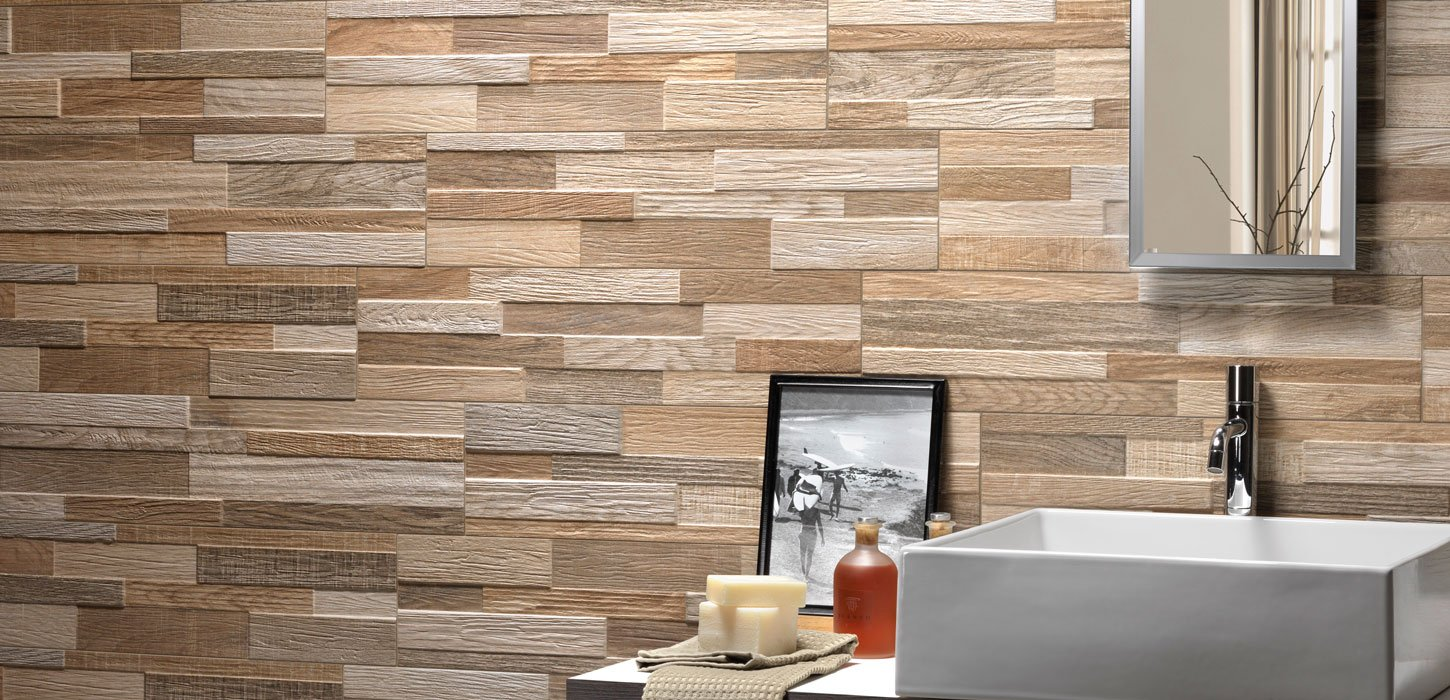 wall art wood effect tiles
