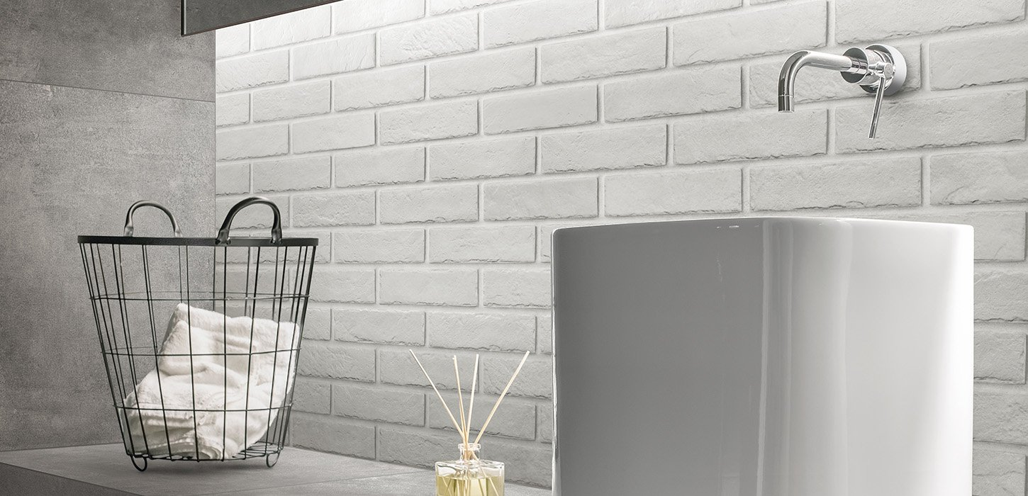Brick Effect Tiles The Wall Ceramica Rondine