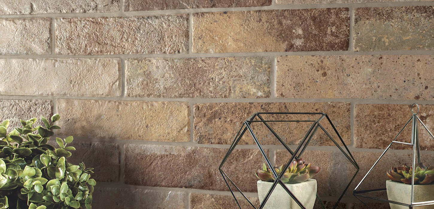 the wall Brick effect tiles