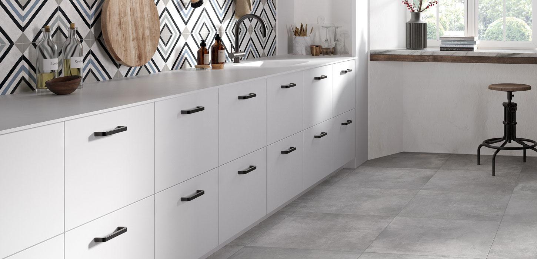 Piastrelle e pavimenti per cucina in ceramica e gres for Piastrelle cucina industrial