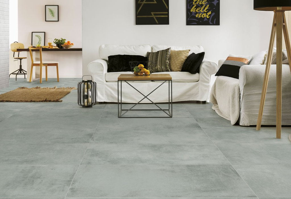 Concrete and resin floor effect Industrial colorchic by Ceramica Rondine