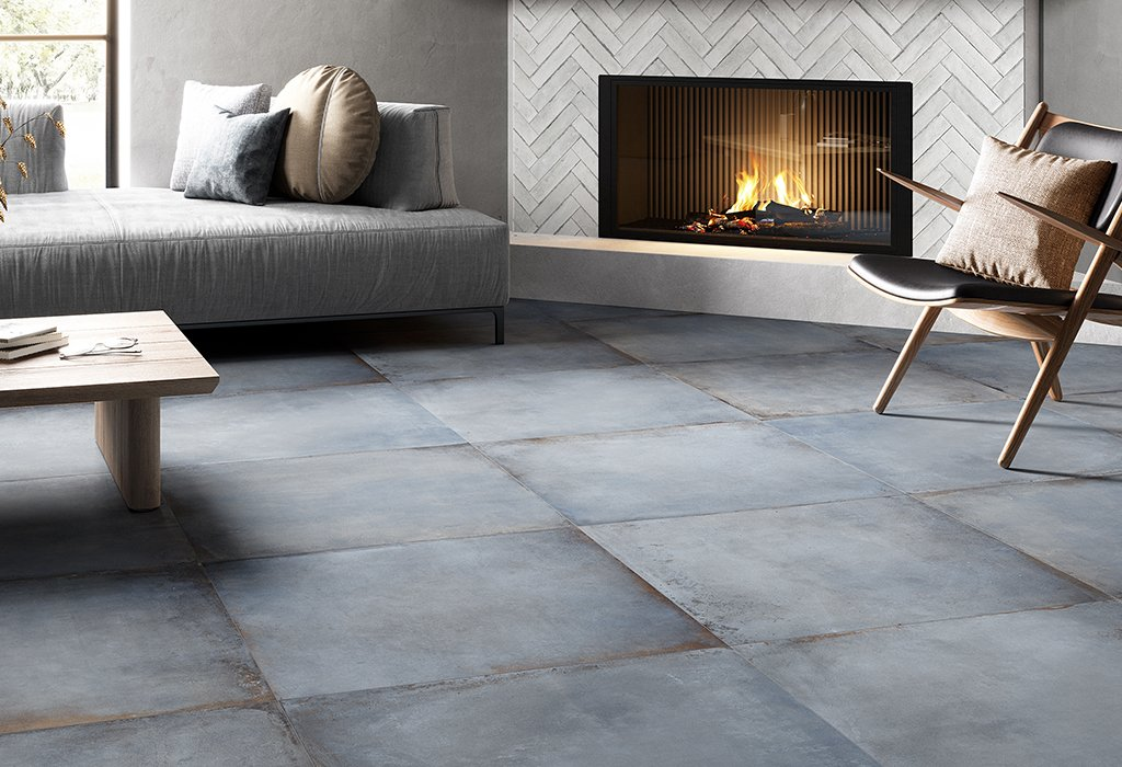 Concrete and resin floor effect Manhattan by Ceramica Rondine
