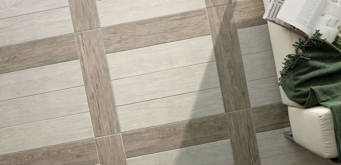 jungle Parquet effect porcelain stoneware