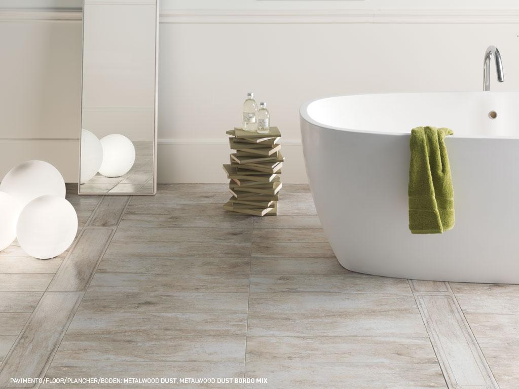 Gres porcellanato effetto legno grigio beige e dust - Gres porcellanato bagno moderno ...