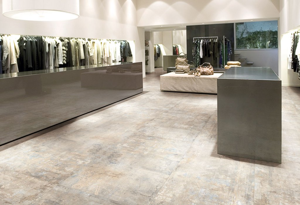 Concrete and resin floor effect Murales by Ceramica Rondine