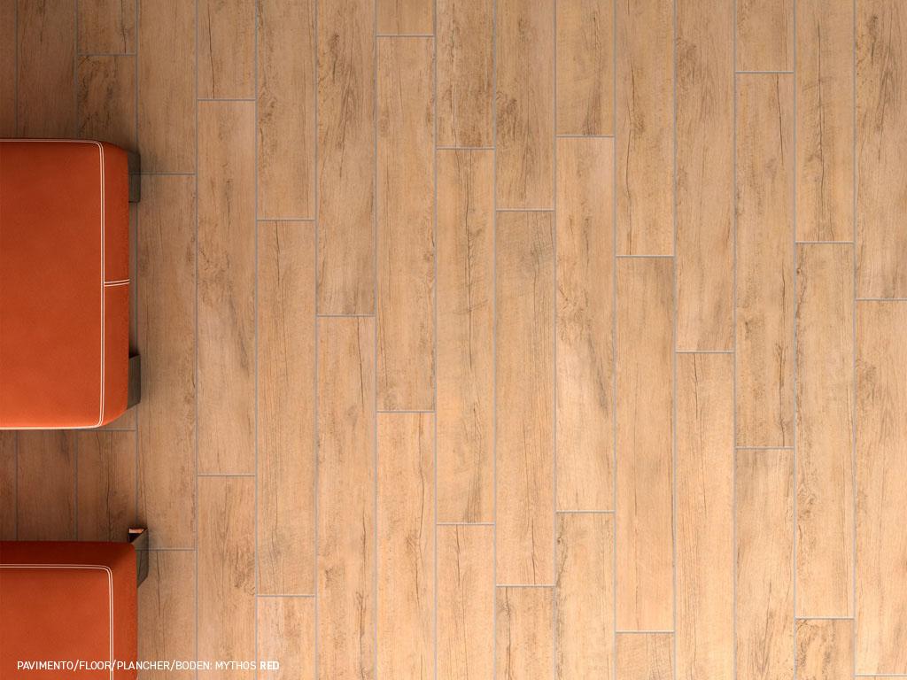 Mythos grès émaillé effet bois naturel