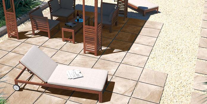 Pavimentazione esterna autoportante h ceramica rondine