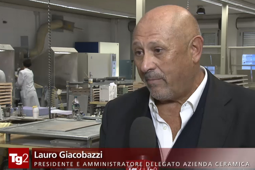 Ceramica Rondine, an exemplary company on the Tg2 news programme