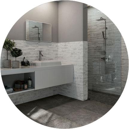 3 rivestimenti super creativi per le pareti del bagno ceramica rondine for Foto rivestimenti bagno