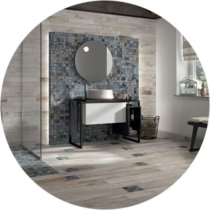3 rivestimenti super creativi per le pareti del bagno for Piastrelle 3 millimetri