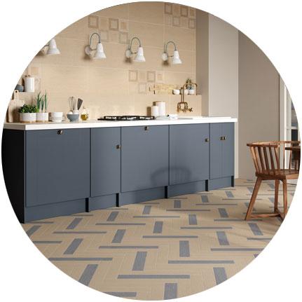 3 tendances d co pour la cuisine 2018 ceramica rondine. Black Bedroom Furniture Sets. Home Design Ideas