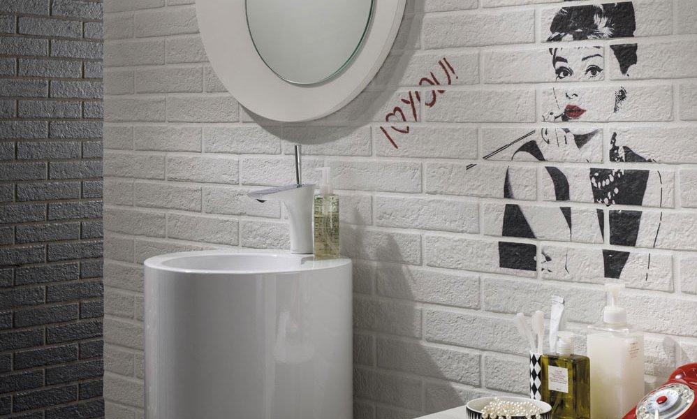 Piastrelle bagno effetto muretto beautiful moda ceramica for Mattonelle da muro