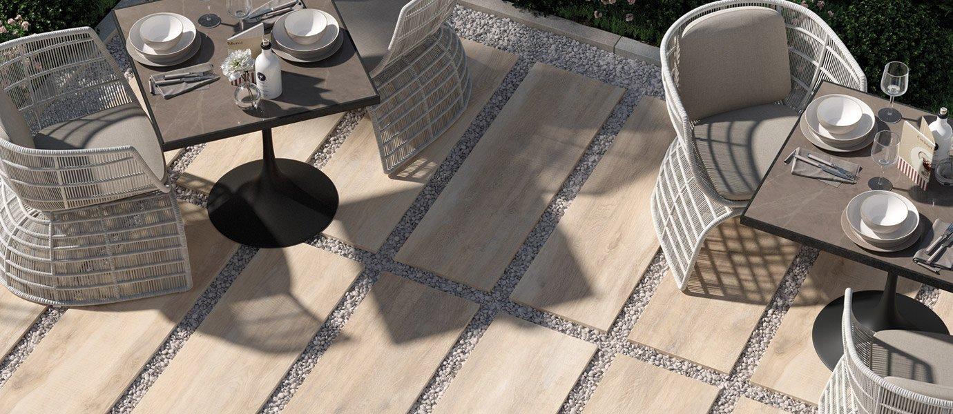 Posa Pavimento A Secco Giardino pavimentazione esterna autoportante h20 | ceramica rondine